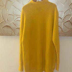 Gold mock turtleneck sweater. Lightweight!
